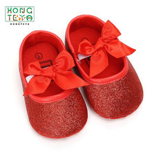 2019 Fashion Baby Shoes Baby Girls Princess Shoes Sequins Infant Soft Sole First Walkers PU Leather Soft Bottom Toddler Shoes(China)