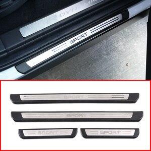 Image 1 - Für Land Rover Discovery Sport L550 19 20 ABS Schwarz Außerhalb Tür Schwellen verschleiss Schwelle Schutz Platte Abdeckung Trim auto Zubehör