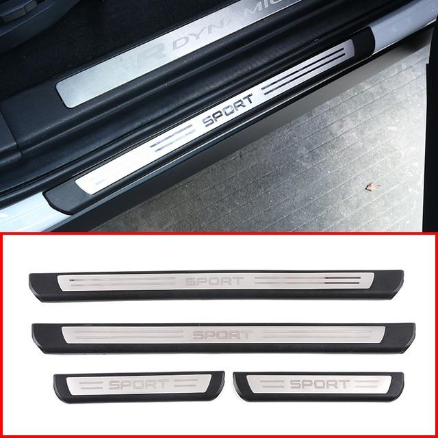 Für Land Rover Discovery Sport L550 19 20 ABS Schwarz Außerhalb Tür Schwellen verschleiss Schwelle Schutz Platte Abdeckung Trim auto Zubehör