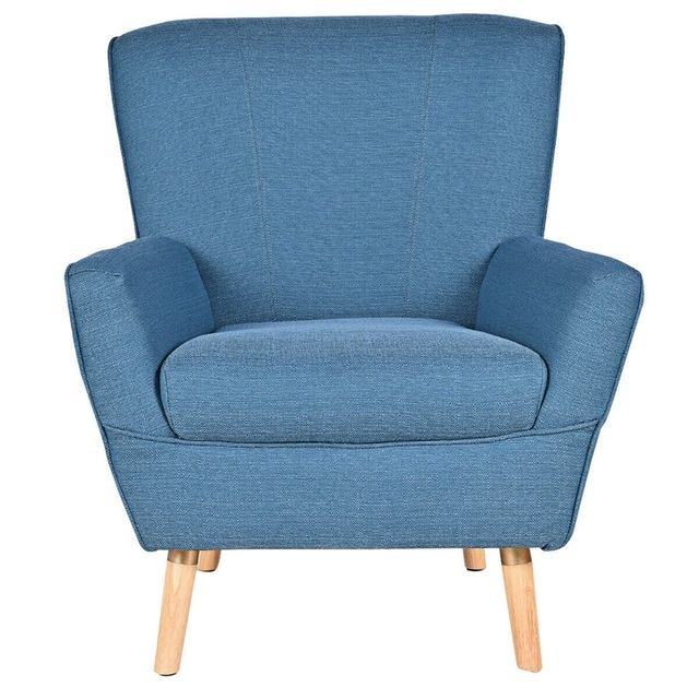 Birch Wooden Legs Accent Leisure Sofa Arm Chair  3