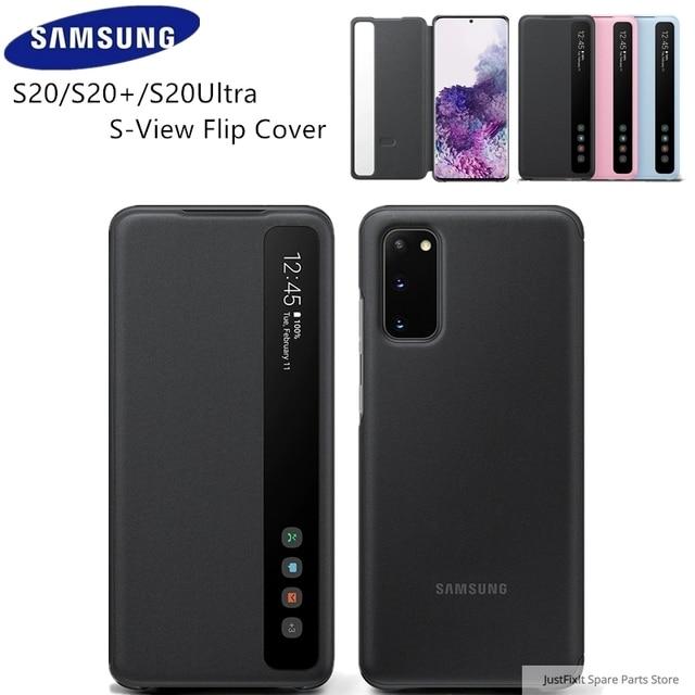 SAMSUNG funda de teléfono Original con tapa de espejo Vertical, EF ZG980 para Samsung Galaxy S20 S20Plus S20 Ultra S20 + 5G s view