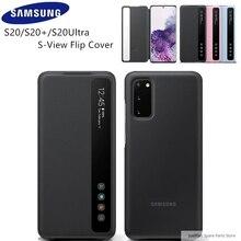 Samsung original capa de telefone espelho vertical flip capa EF ZG980 para samsung galaxy s20 s20plus s20 ultra s20 + 5g s view capa