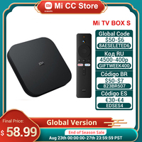 Xiaomi mi-tv box s, receptor de televisão, ultra hd 2gb 8gb, android 9.0, wi-fi, assistente do google, reprodutor de mídia