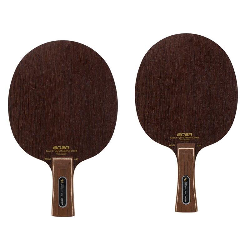 Ping Pong Racket BOER Wood Table Tennis Paddle Shakehand Penhold Training Sports