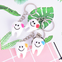 Bag Hanging-Accessories Tooth-Pendant Gift Keychain Women Dental Cartoon Lovely Simulation