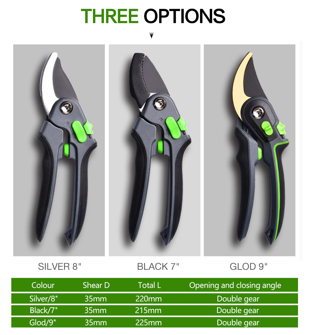 AI-ROAD flower shears comes in three options