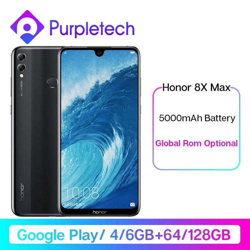 Google Play Honor 8X Max Smartphone 7.12'' Big Screen Global Rom Optional OTA Update Android 8.1 Octa Core 5000mAh Fingerprint