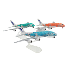 Aircraft Model ANA Airbus A380 plane model 1:500 scale ABS Plastic plane display collection