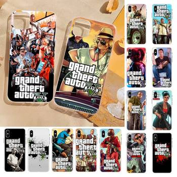 FHNBLJ Gta 5 Grand Theft Auto V Phone Case for iPhone 8 7 6 6S Plus X 5S SE 2020 XR 11 12 pro XS MAX image