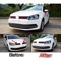 Чехол-накладка для Volkswagen vw POLO  2 шт.  Новый Стайлинг автомобиля из нержавеющей стали  специальные передние детали для сети  аксессуары