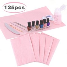 Almohadillas limpias desechables para decoración de uñas 5/125 Uds. Manteles impermeables para manicura