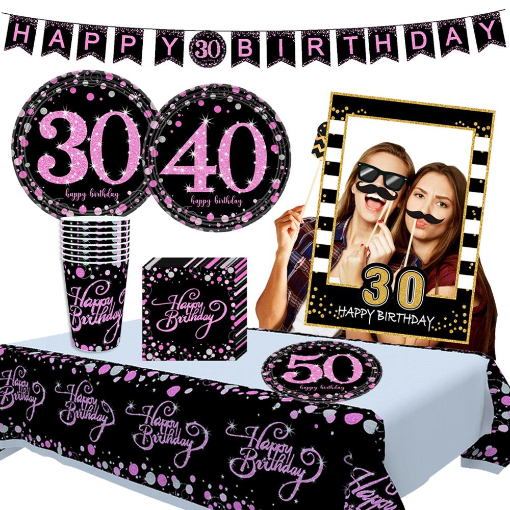 Cheer 30 40 <font><b>50</b></font> Balloon <font><b>Happy</b></font> <font><b>Birthday</b></font> 30 40 <font><b>50</b></font> Years Balloons 30th 40th 50th <font><b>Birthday</b></font> Party Decor Adults Latex Baloon 30 Birthda image