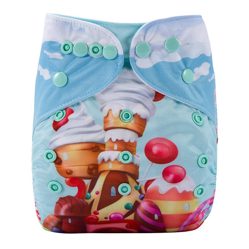 Premium Quality Baby Diaper Washable Prefold Reusable For Baby Pocket Cloth Diapers Without Inserts DY8