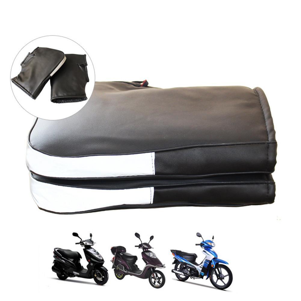 Зимние теплые мотоциклетные перчатки на руль со светоотражающей полосой, ветрозащитные водонепроницаемые теплые мотоциклетные перчатки н...