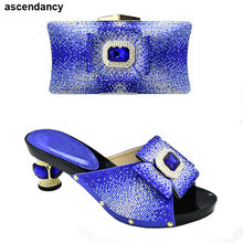 Latest Design Bag and Shoe Woman Wedding Italian Matching Shoe and Bag Set for Party Parties Designer Shoes Women Luxury 2020(China)