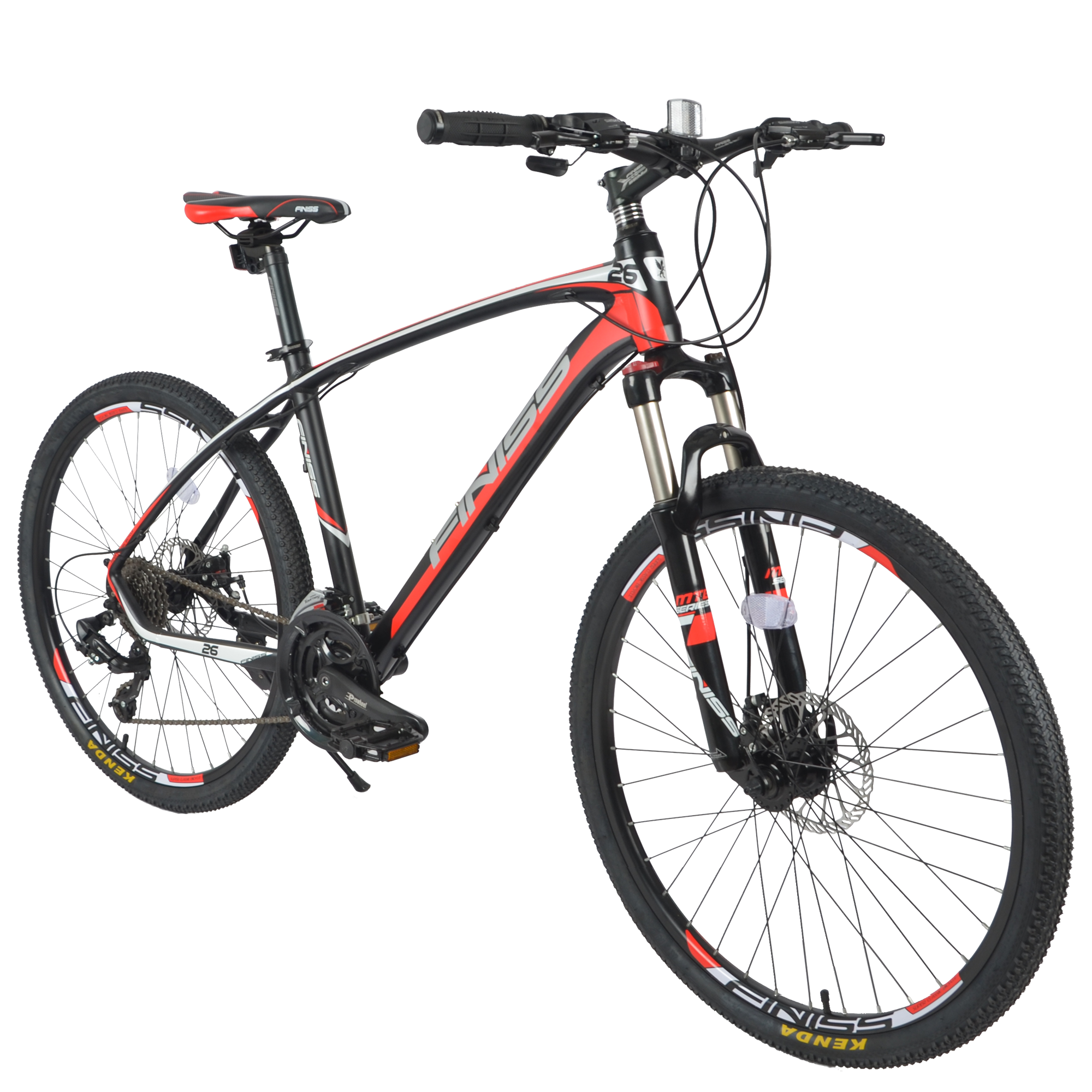 """Bicycle 24 Speed Mountain Bike 26"""" inch Tire Shock Absorbers Bicycle Road Bike Double Disc Brakes Red Snow Racing Bicycle"""