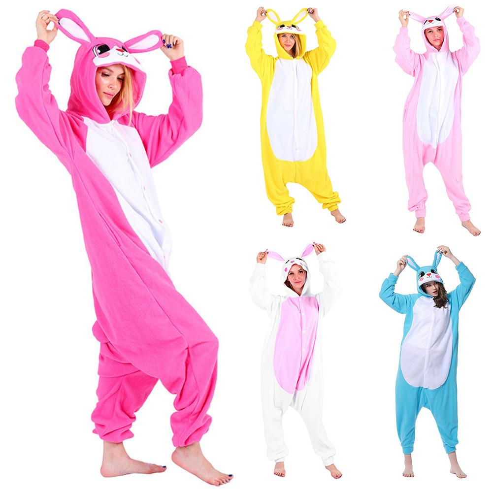Pyjamas Women Women Pajama Sleepwear Unisex Cute Animal Rabbit Pajama Hooded Sleepwear Nightgown Winter Warm Homewear For Women