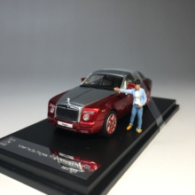 DCM 1/64 Phantom Coupe  with free doll DieCast Model Motorcycle Collection Limited