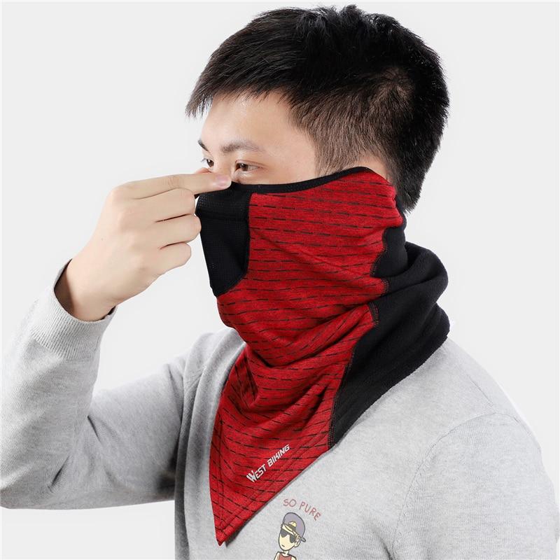 Hacb88a070afe48d8b2b2fd6240761ecbl WEST BIKING Winter Cycling Mask Fleece Thermal Outdoor Sports Facemask Bandana Headband Anti-UV Running Training Ski Face Mask
