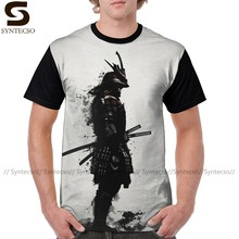 Warrior T Camicia Armored Samurai T-Shirt Divertente Poliestere Tee Shirt Moda XXX Grafici Uomini Graphic Maglietta(China)