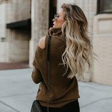 купить Autumn and Winter Long Sleeve Turtleneck Sweater Women Tops Fashion Hollow Out Sexy Knit Sweater Women Elegant Fluffy Sweater онлайн