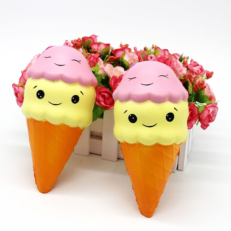 Fashionshow Exquisite Fun Cute Pink Kawaii Ice Cream Scented Squishy Charm Slow Rising Simulation Kids Toy