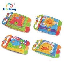 Tier Stil Weichen Tuch Bücher Stoff Buch Frühen Intelligenz Entwicklung Lernen Pädagogisches Beißen Die Beißring Neugeborenen Baby Spielzeug