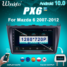 2 din Android 10 auto radio PX6 Für Mazda 6 2007-2012 Mazda6 screen stereo Navigation GPS bluetooth 2din auto audio multimedia