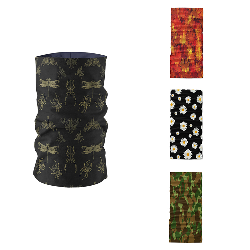 3D Printed Women Summer Ring Scarf Neck Gaiter Bandanas Tube Headband Camouflage Pattern Magic Sports Mask Braga Cuello Buffe
