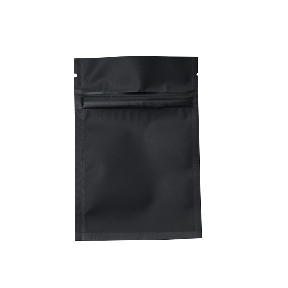 100pcs lot 10x15cm Frosted Black Heat Seal Aluminum Foil Food Package Bags Zipper Zip Lock Mylar Packing Bag for Cereal in Storage Bags from Home Garden