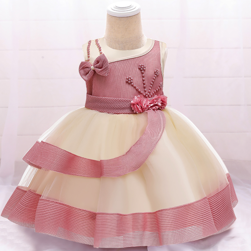 Newborn <font><b>Baby</b></font> Girl <font><b>Summer</b></font> <font><b>Dress</b></font> Infant Beading Ball Gown <font><b>Dresses</b></font> <font><b>Baby</b></font> Girls Princess <font><b>Dress</b></font> For 1 Years Birthday image
