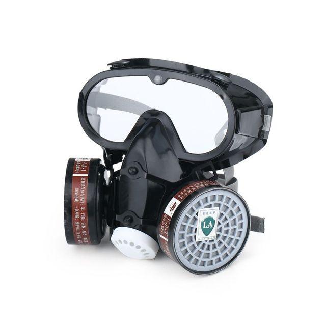 Atemschutzmaske Gas Maske Sicherheit Chemische Anti Staub Filter Military Auge Goggle Set Arbeitsplatz Malerei Spritzen Sicherheit Protec