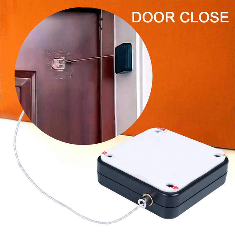 Punch-Free Automatic Sensor Door Closer Automatically Close for All Doors