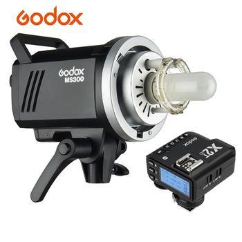 Godox MS300 Studio Flash Strobe Light 300Ws+X2T-C E-TTL II Wireless Flash Trigger 150W Lamp Bowens Mount for Canon DSLR Camera