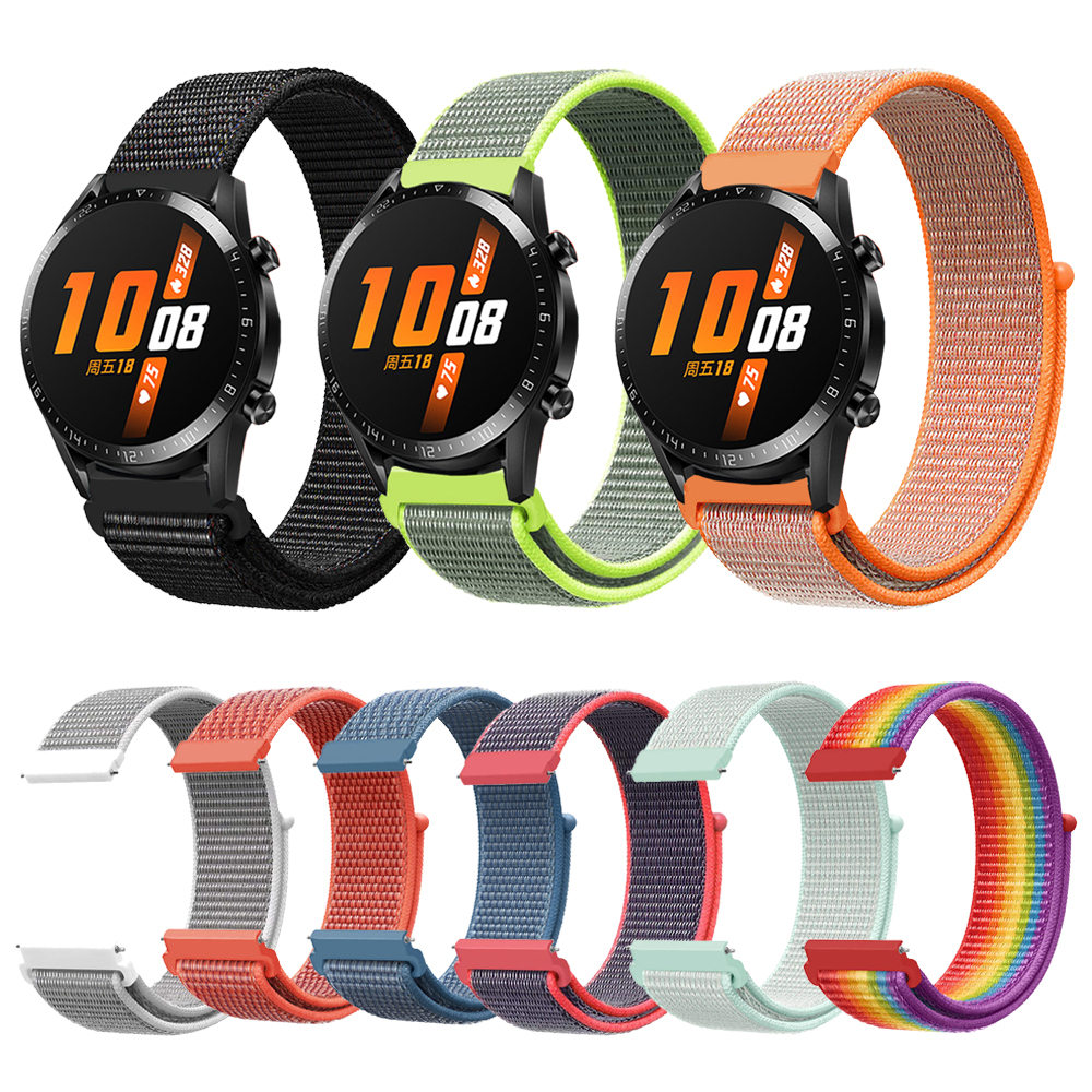 GT ACTIVE/CLASSIC Woven Nylon Loop Strap For HUAWEI GT2 46mm WATCH GT 2 Band Bracelet Wristbands For HONOR Magic Watchband