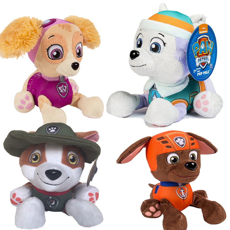 20cm paw patrol dog Skye plush psi patrol toy children's toy removable doll plush doll model and canine patrol plane plush gift