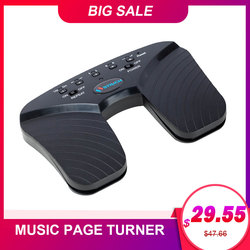 BT Page Turner Wireless Music Pedal for Guitar Violin Piano Rechargeable Electronic Music Sheet Flipping Musical Instrument Part