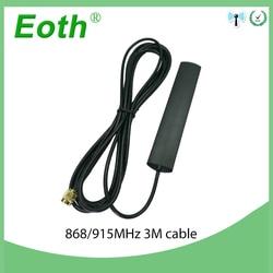 GSM Antenne 868 mhz 915 mhz geklebt streifen patch antenne SMA-Männlich anschluss Antenne 3 meter Kabel 868 mhz 915 mhz antena antenne