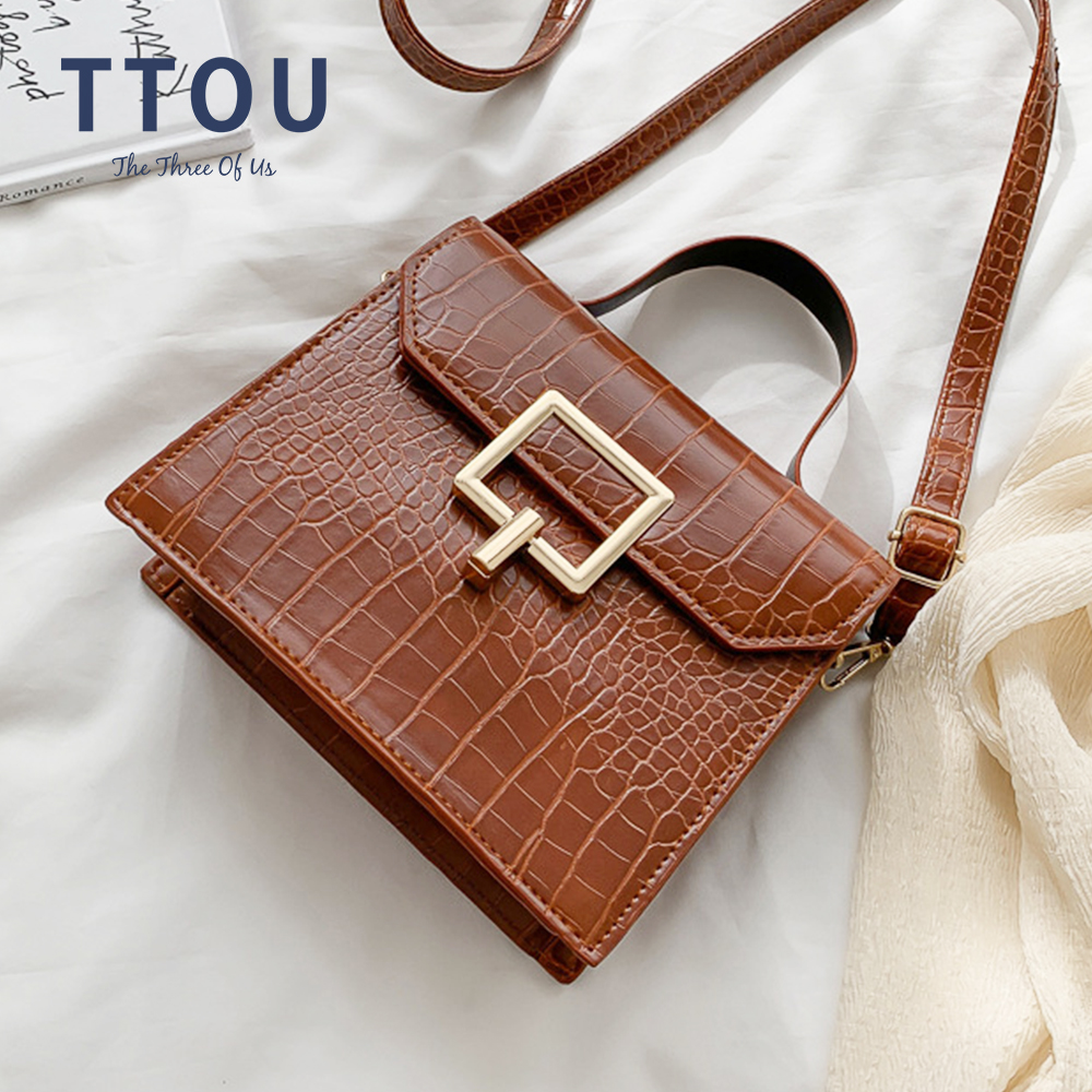 New Women PU Leather Stone Pattern Shoulder Bag Handbags Female Fashion Crossbody Messenger Bags Large Capacity Casual Bag