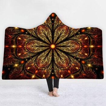 3D Mandala Pattern Hooded Blanket 2