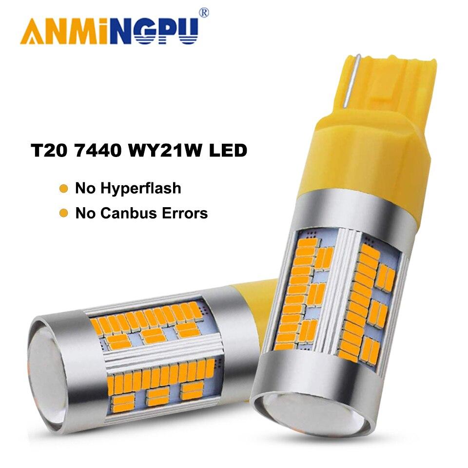Amningpu 2x сигнальная лампа w21w led canbus t20 7440 wy21w