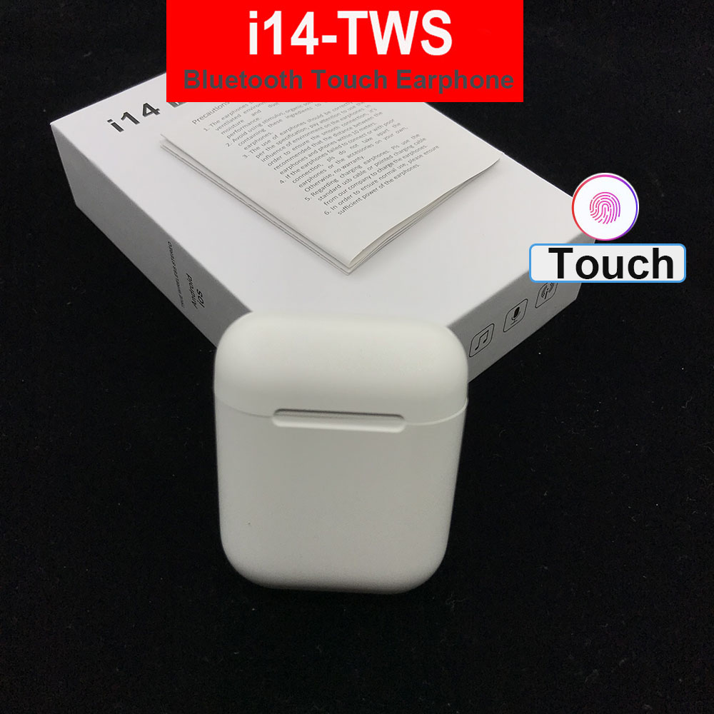 i14 <font><b>tws</b></font> Wireless Earphone Bluetooth Earphones Touch Control & 3D Stereo Earbuds for All Compatible for all smart phone i14tws image