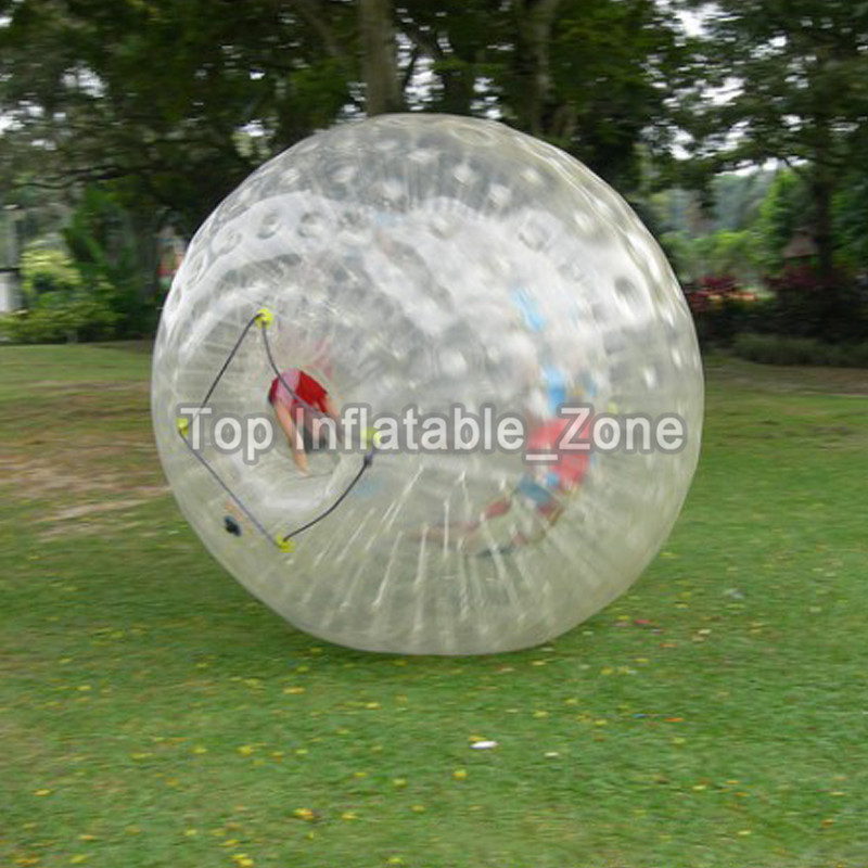 Big Discount Zorb Ball  Human Hamster Giant Transparent Adult Inflatable Zorb Ball / Body Zorb Ball For Outdoor Grass Game 2.5m