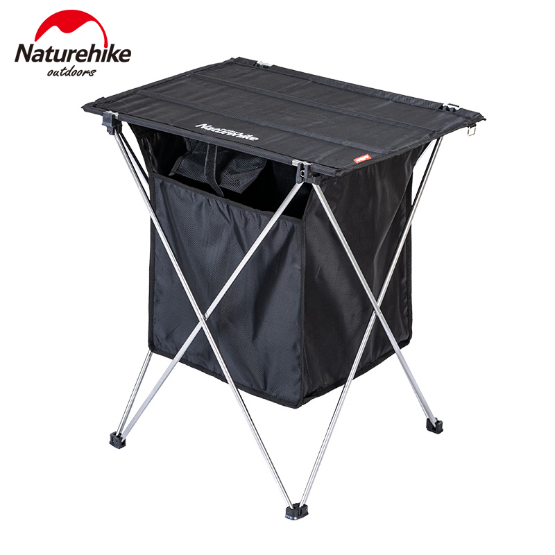 Naturehike Outdoor Folding Storage Box Table Portable Splicing Camping Aluminium Alloy Table BBQ Picnic Table Storage Box Table