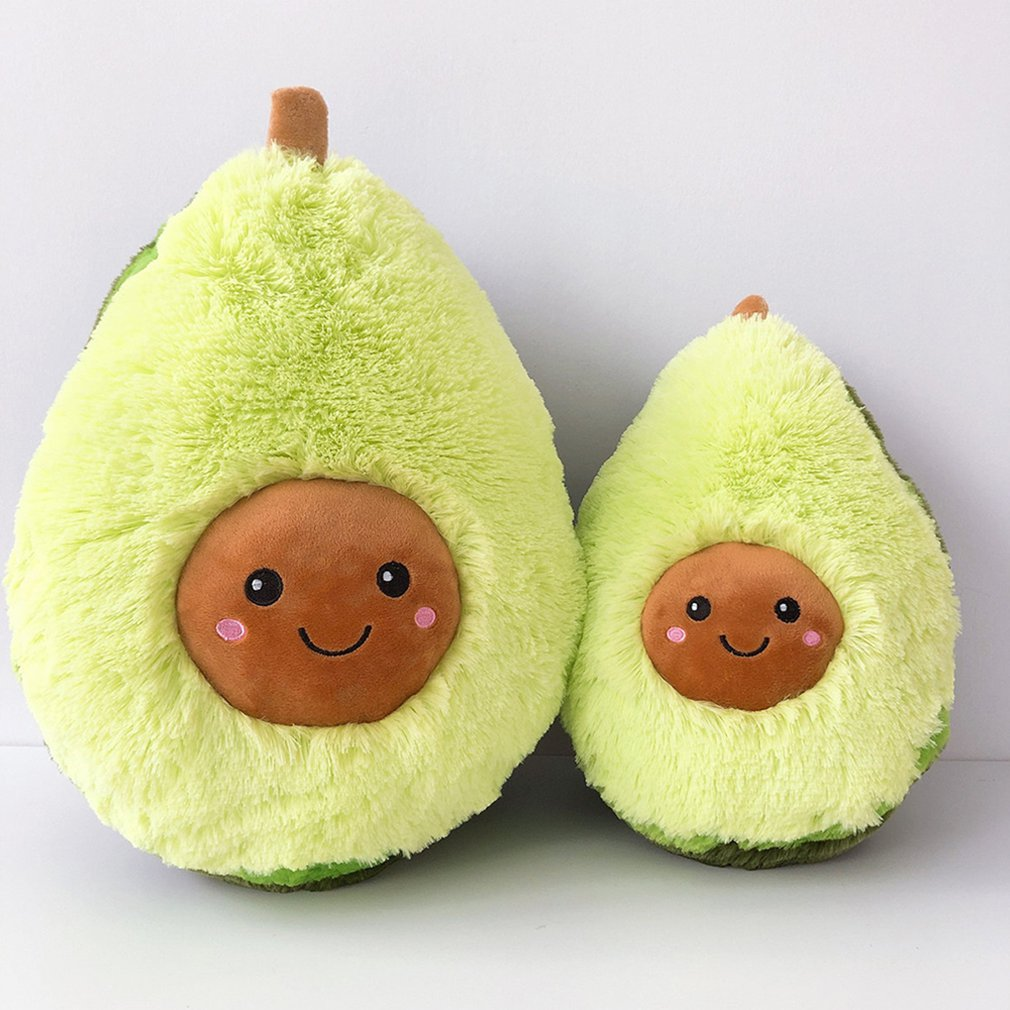 1 Piece Avocado Pillow PP Cotton Velvet Cute Avocado Soft Stuffed Doll Toy For Kids Bedroom Living Room Decoration Toy