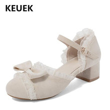 New Girls High Heels Spring/Summer Princess Sweet Bow Children Leather