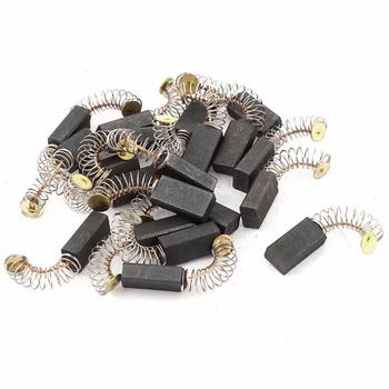 10 sztuk Mini wiertarka części zamienne do szlifierki elektrycznej części zamienne do szczotek węglowych silniki elektryczne do narzędzia obrotowego Dremel 6 5 #215 7 5 #215 13 5mm tanie i dobre opinie Electric Motor Carbon Brushes