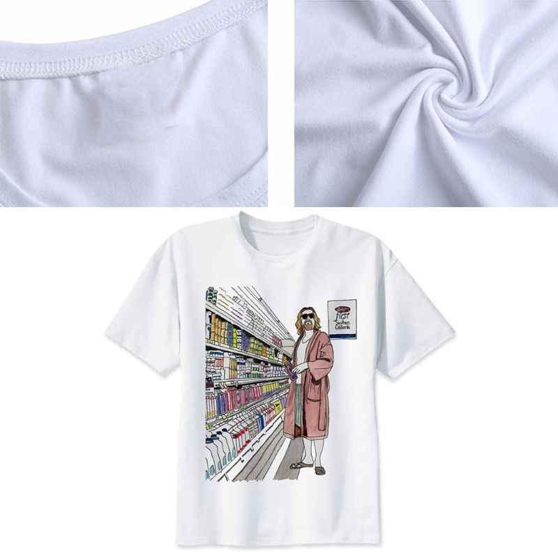 Donne degli uomini di Estate Manica Corta T-Shirt Divertente Scena di Un Film Gli Uomini In Accappatoio Stampa Girocollo Camicetta Vintage Più Il Formato Tee magliette e camicette S-3XL