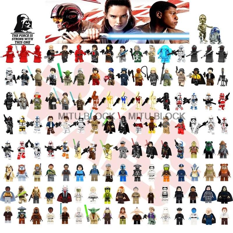 Single Sale Starwars Jedi Han Yoda Darth Vader Obi Wan Models Leia Rey Building Block Compatible With Legoelys Star Wars