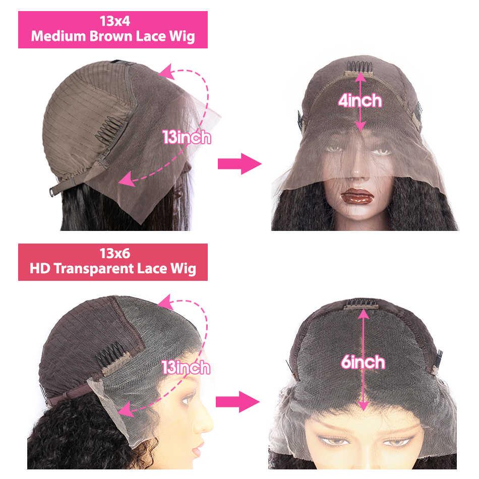 Panna HD koronkowa peruka 13X6 przejrzyste koronki peruki koronki przodu włosów ludzkich peruk 28 30 cal 4X4 zamknięcie peruka peruka Body Wave dla kobiet Remy